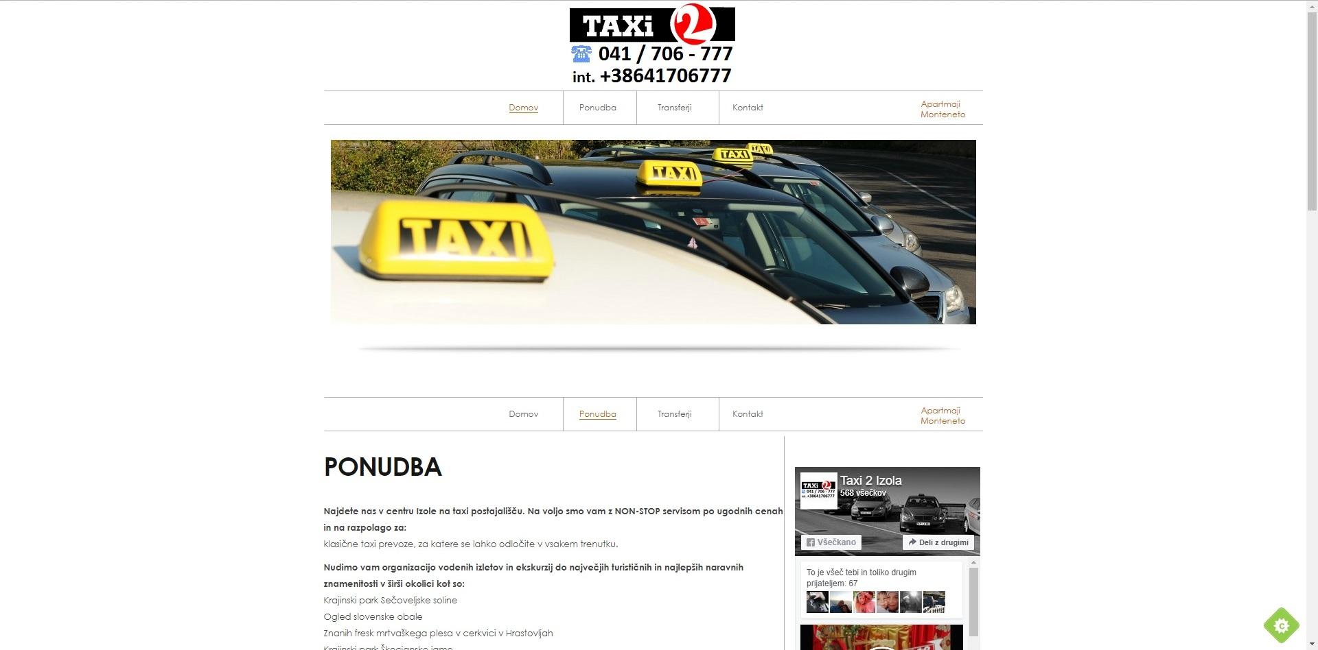 taxi 2 izola
